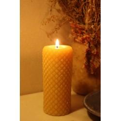 Diamond Cylinder Beeswax Candle