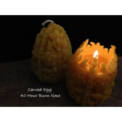 Beeswax Egg Candle